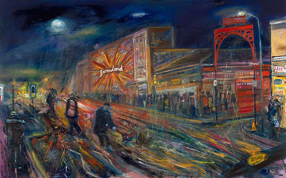 Dreich Night at The Barras giclée print