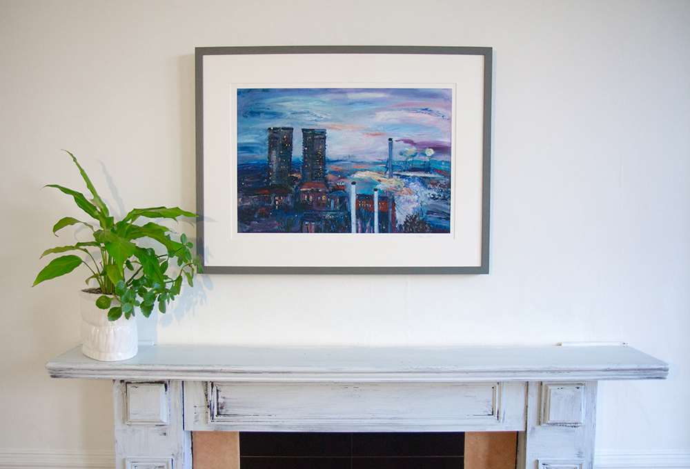 Gallowgate Twin Towers giclée print