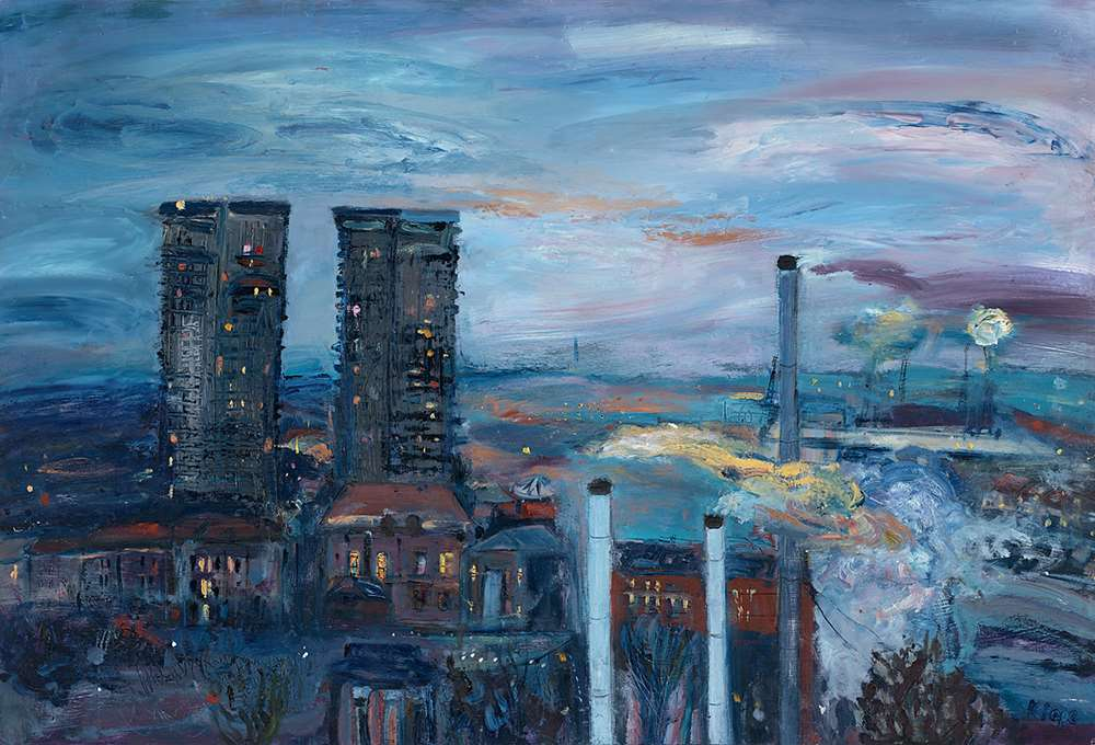 Gallowgate Twin Towers giclee prints by the Glasgow artist Katie Pope