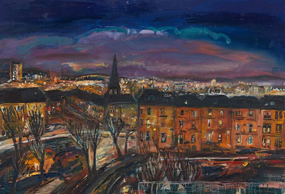 West End at Night giclée print
